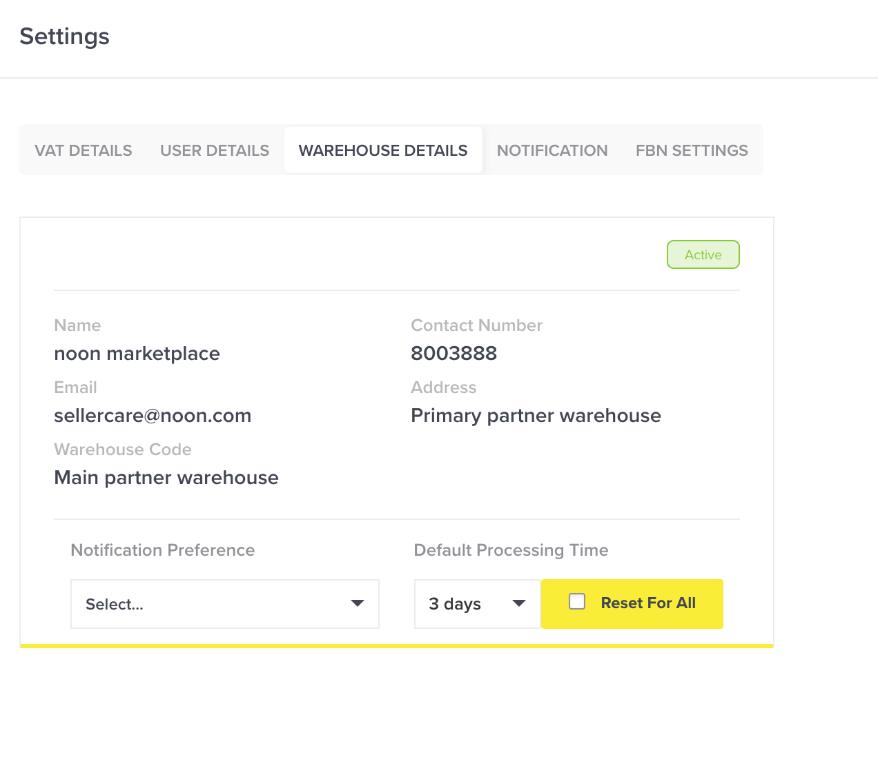 Setting A Default Processing Time For All Your Products Noon Seller Support